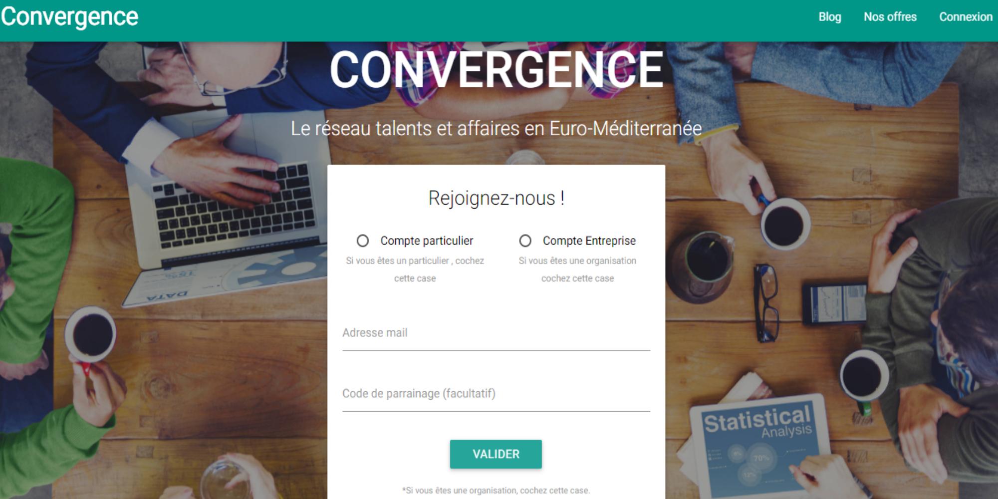 Convergence.link , la plateforme de la mise en relation professionnelle qualifiée sur la zone Europe-Méditerranée-Afrique