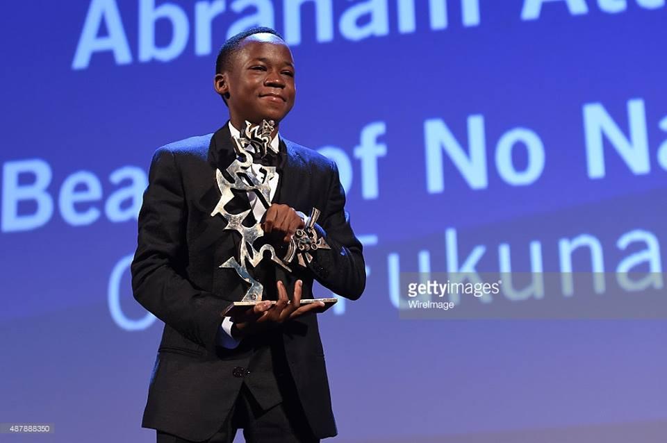 Abraham Attah jeune joueur de foot dans les rues ghanéennes remporte le prix du Meilleur Jeune Acteur