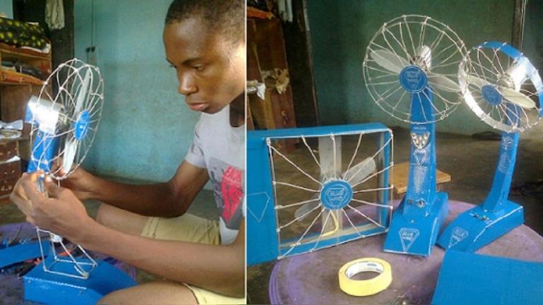 Nigeria : à 13 ans, il fabrique un ventilateur à pile