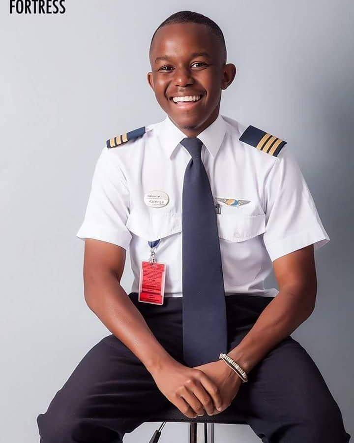 Kalenga Kamwendo 21 ans, l'un des plus jeunes pilotes de ligne du monde