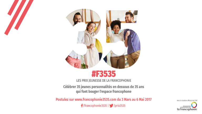 Appel à candidatures des Prix Jeunesse de la Francophonie 35<35