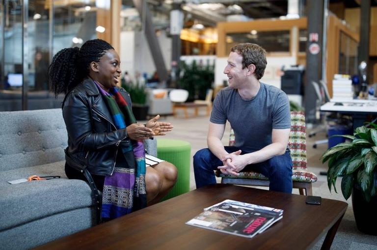 Zuckerberg vient à la rencontre de la fondatrice du plus intéressant groupe Facebook pour les femmes nigérianes