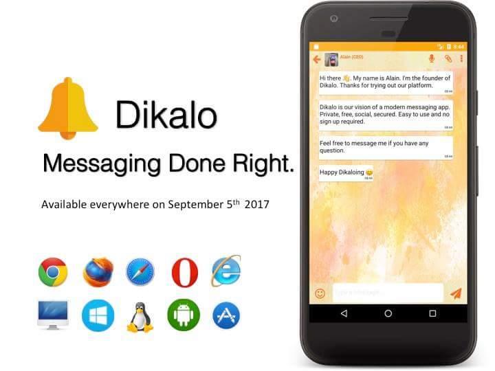 Dikalo, alternative à Whatsapp