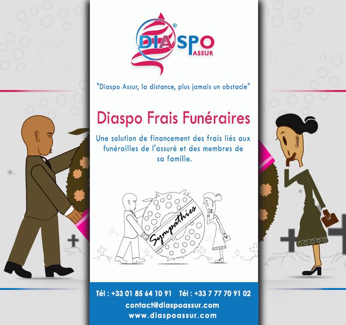 Diaspo Frais funéraires est la solution de financement des frais liés aux funérailles de Diaspo assur